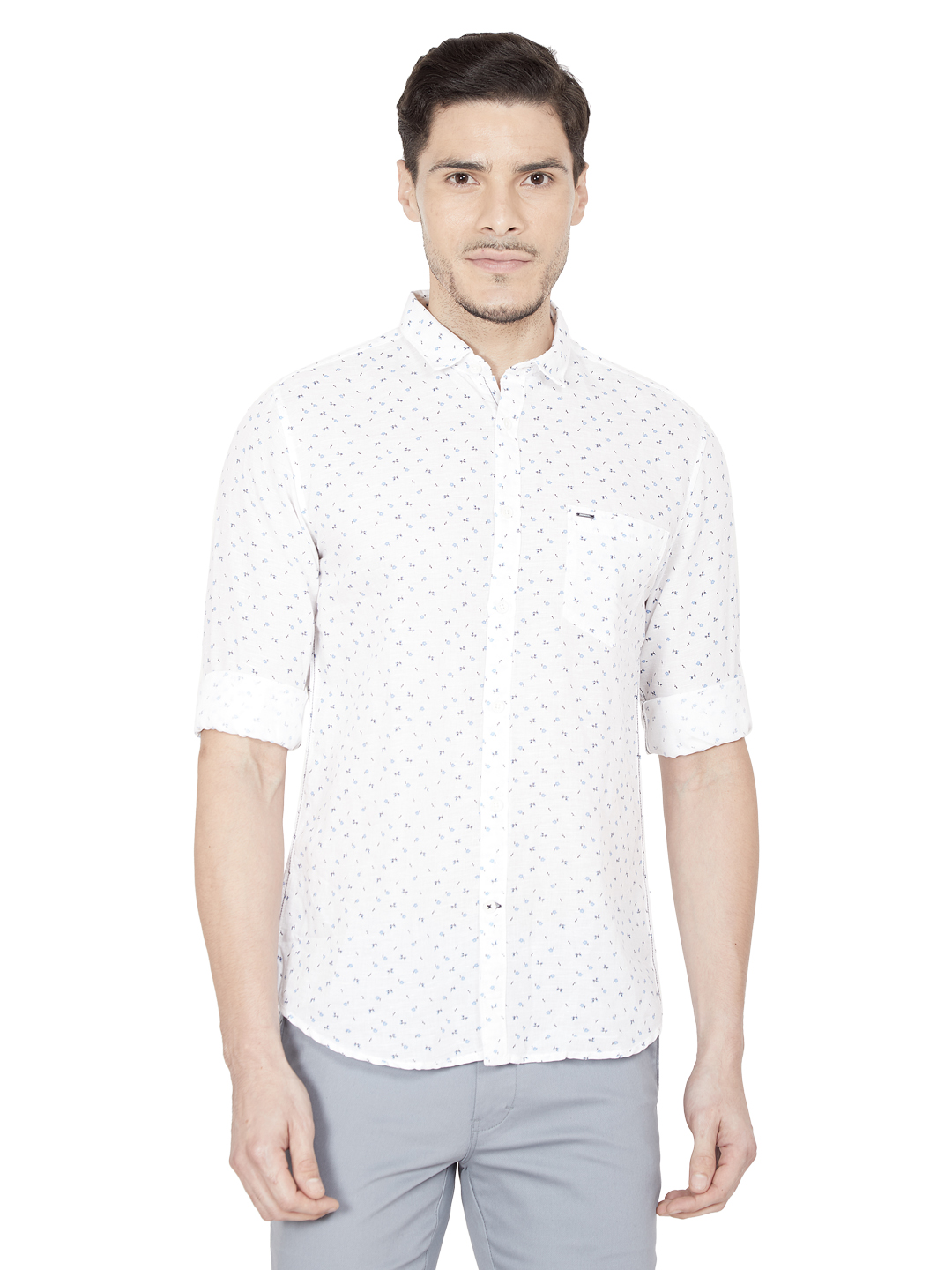 OXEMBERG | Oxemberg Men's Slim-fit Cotton Casual Shirt