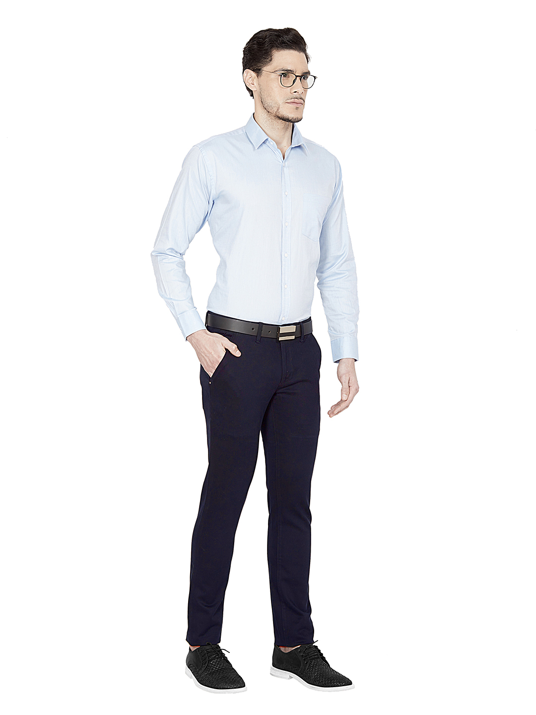 OXEMBERG   Oxemberg Men's Solid Cotton Formal Shirt