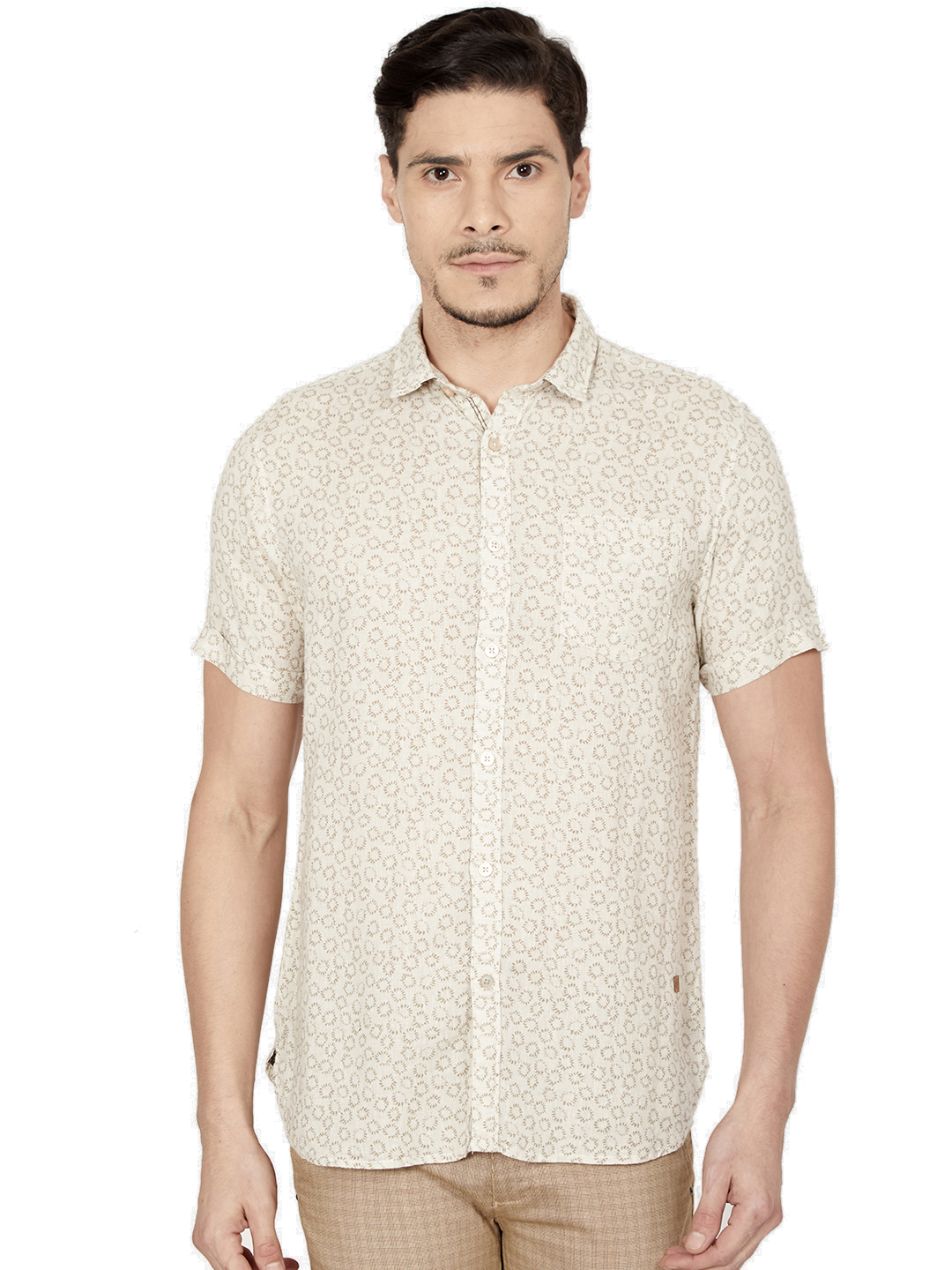 OXEMBERG | Oxemberg Men's Cotton Slim-fit Printed Casual Shirt