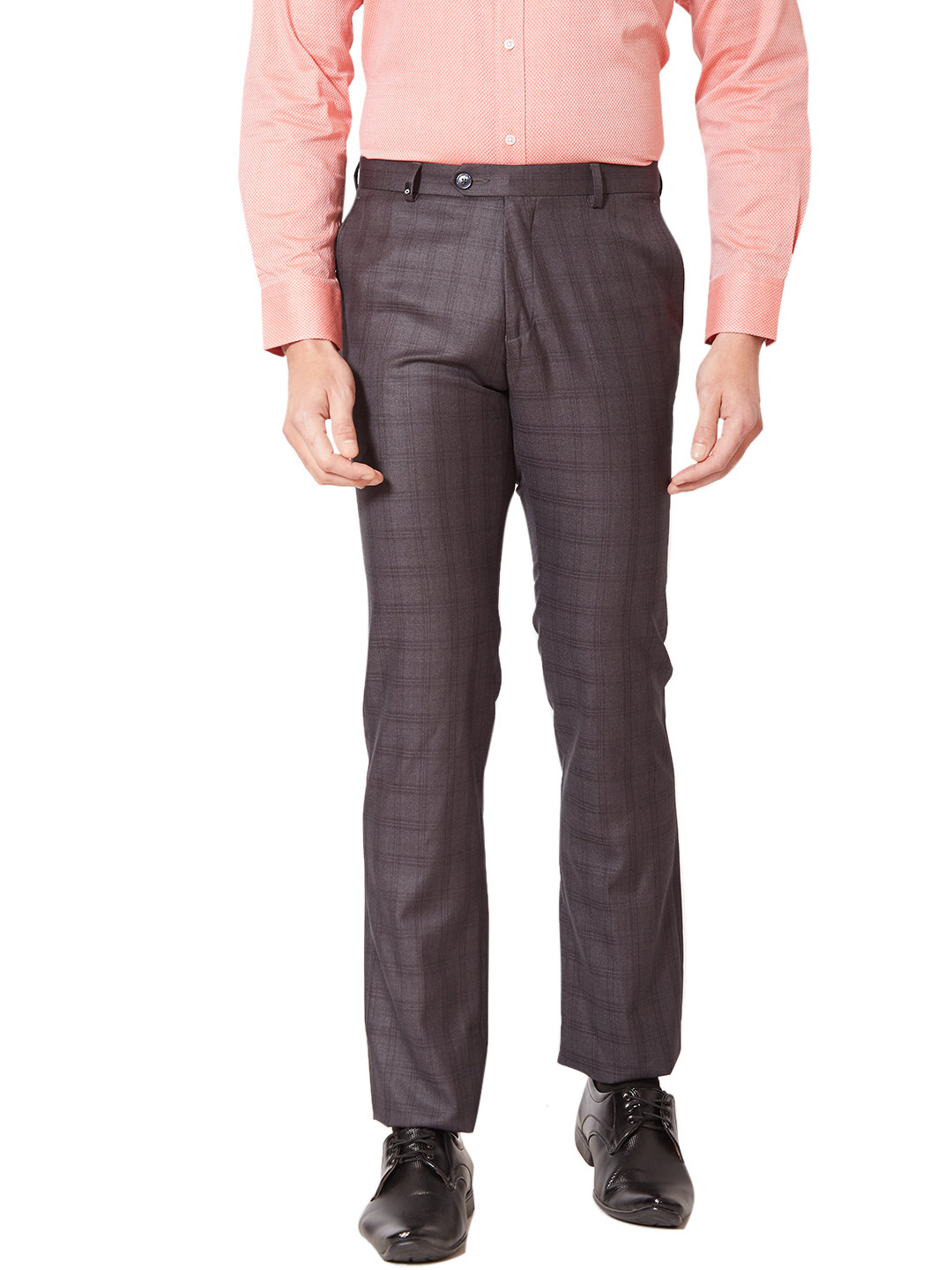 OXEMBERG | Oxemberg Men's Poly Viscose Super Slim Fit Formal Trousers