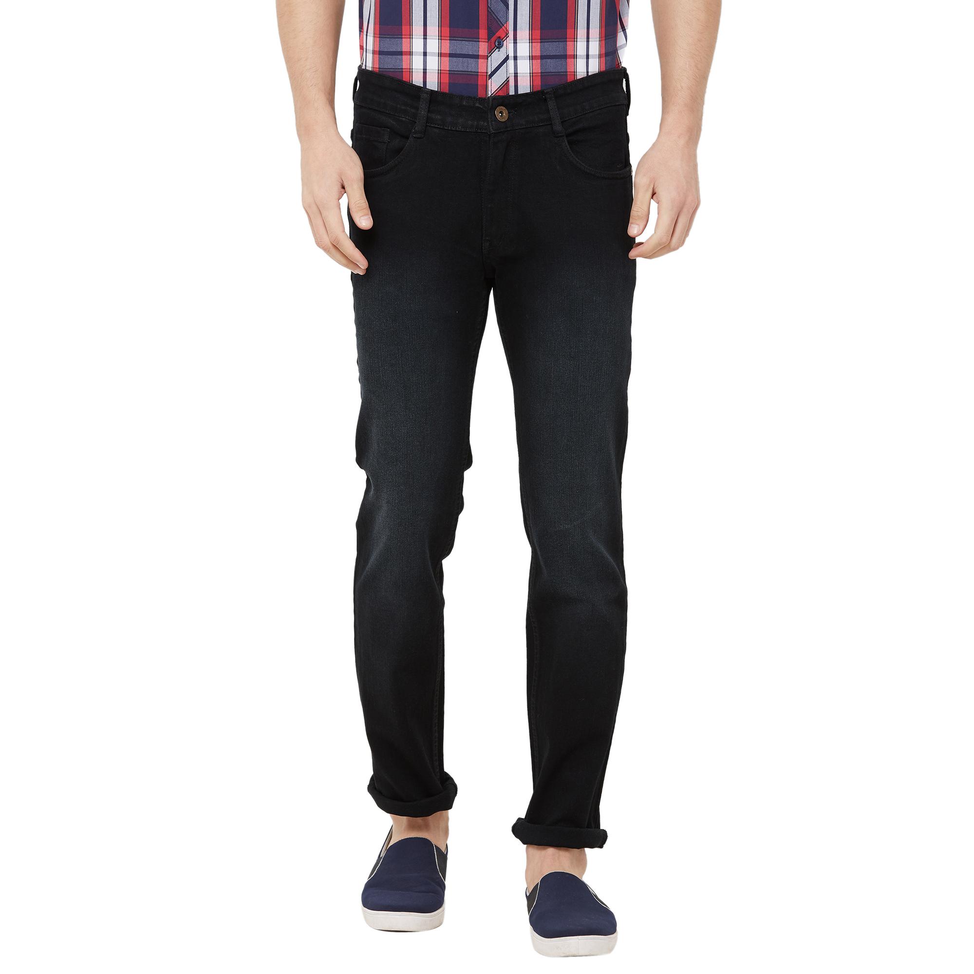 SOLEMIO | black light washed denim jeans