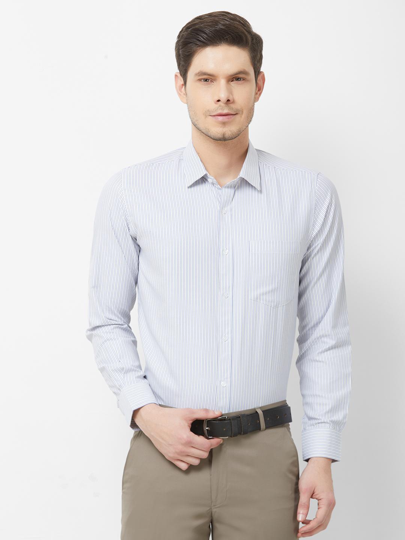 SOLEMIO | White Stripes Formal Shirt
