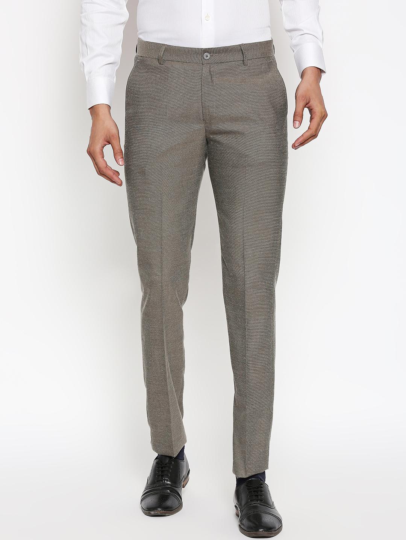 SOLEMIO   Solemio Polyester Formal Trouser For Mens