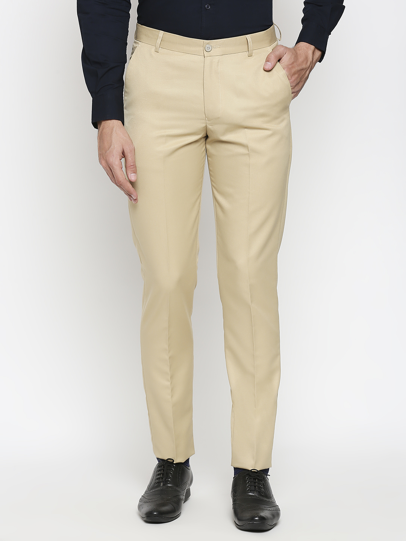 SOLEMIO   Solemio Poly Viscose Formal Trouser For Men