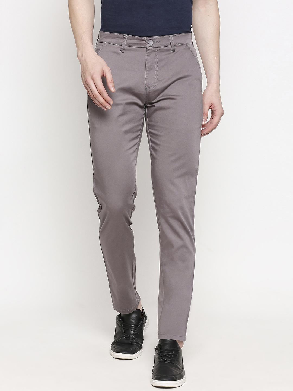 SOLEMIO | Solemio Cotton Blend Ankle Length Chinos For Men