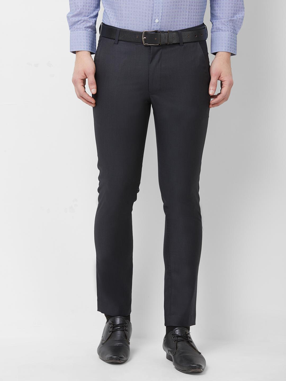 SOLEMIO   Solemio Poly Viscose Woven Trouser For Mens