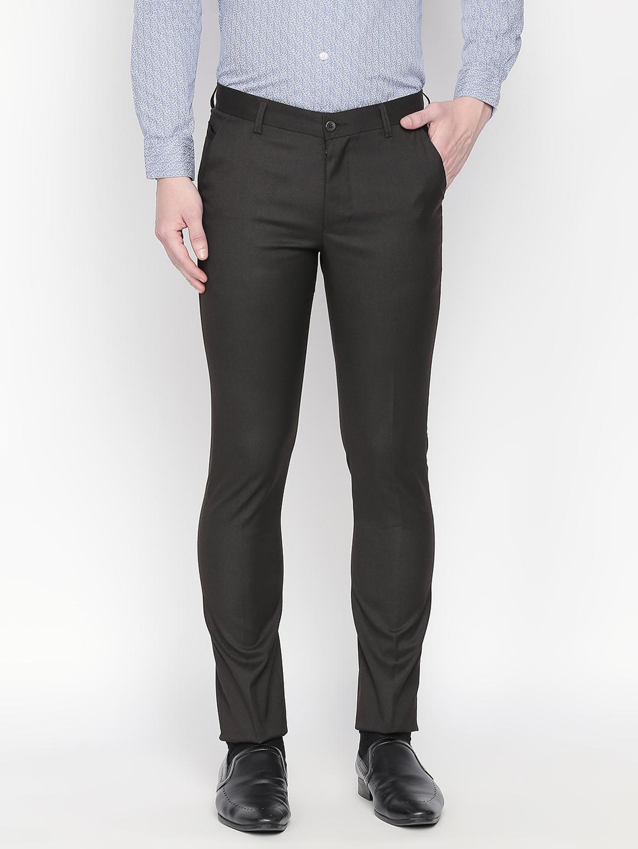 SOLEMIO   Solemio Men's Slim Fit Polyester Viscose Lycra Trouser
