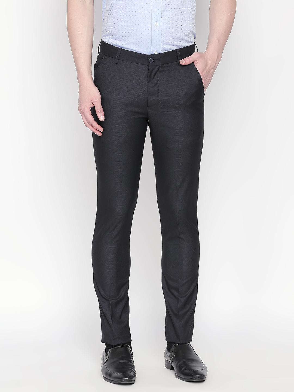 SOLEMIO | Solemio Men's Slim Fit Polyester Viscose Lycra Trouser