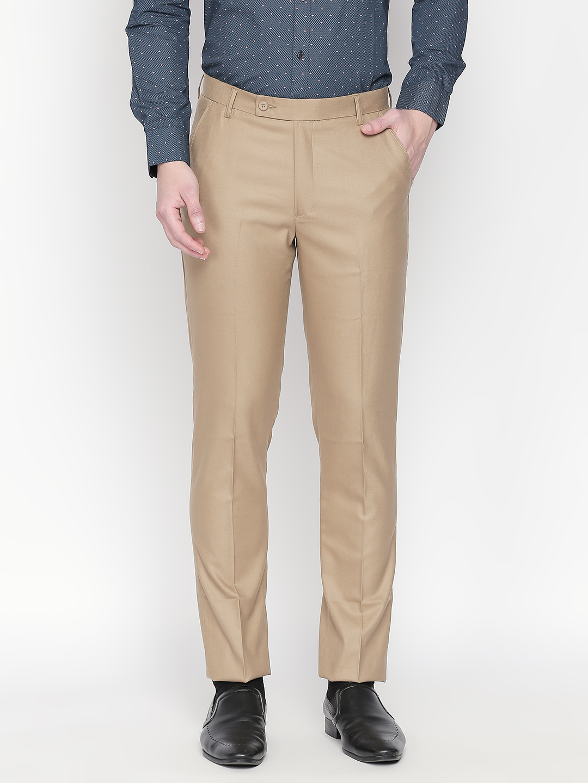 SOLEMIO   Solemio Men's Narrow Fit Polyester Viscose Lycra Trouser