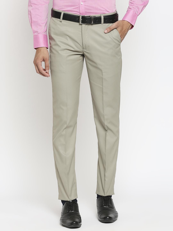 SOLEMIO   Solemio Polyester Formal Trouser For Men