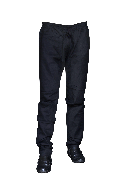 Sreemant | Sreemant Stylish Black Churidar Pajama For Men With Elastic Waist-Band, PJSM-BLK114