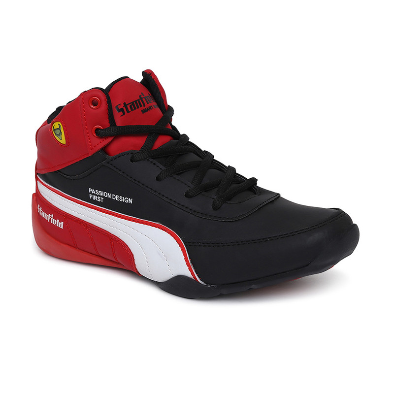 Stanfield | Stanfield SF Fusion Men's Ankle Lace-up shoe Black/White/Red