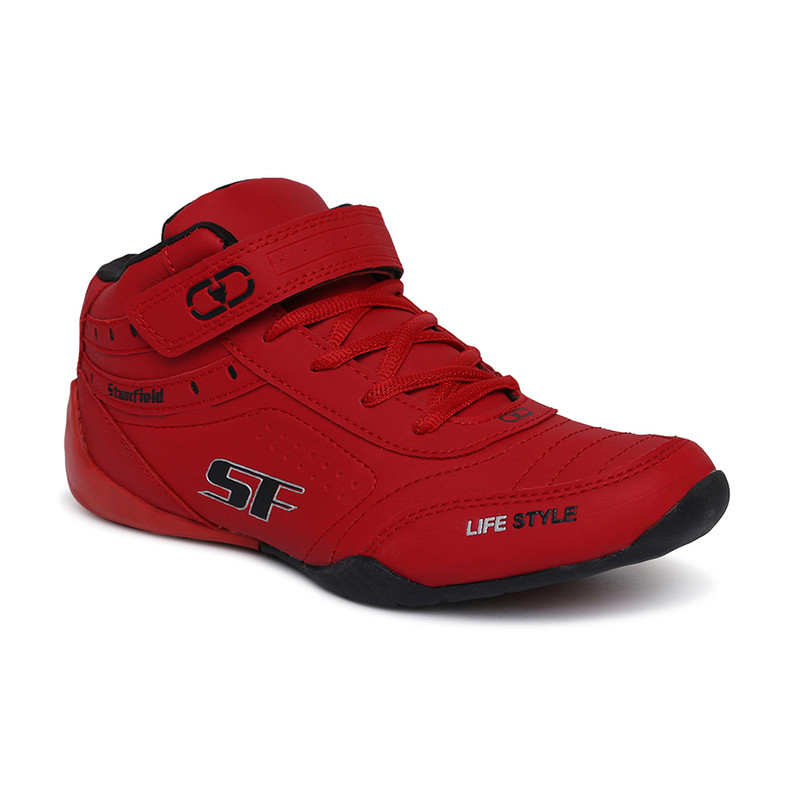 Stanfield | Stanfield SF Fusion Men's Ankle Lace-up shoe Red/ Black