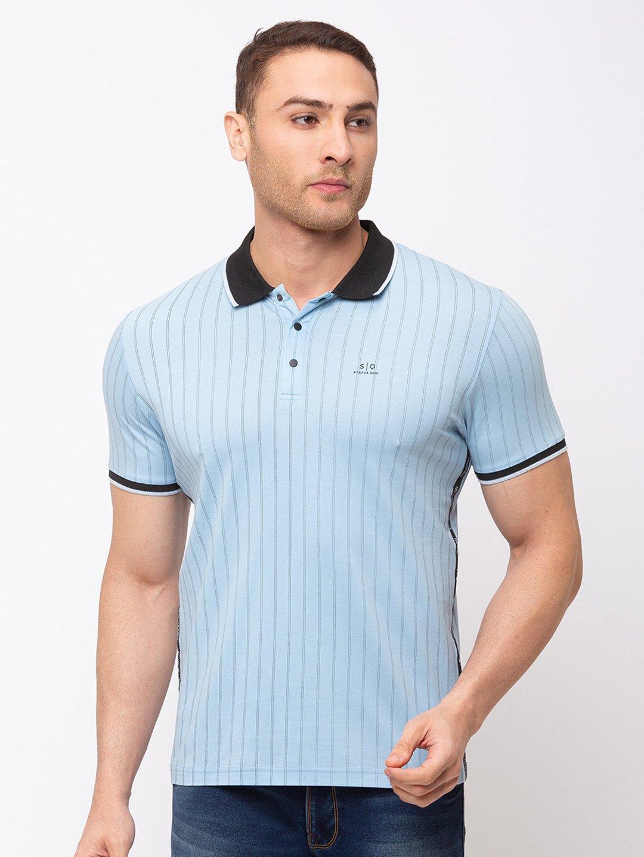 Status Quo   Striped Polo T-Shirt