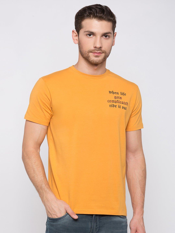 Status Quo   Printed Round Neck T-shirt