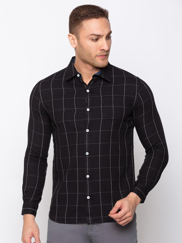 Status Quo   Checks Cotton Slim Fit Shirt