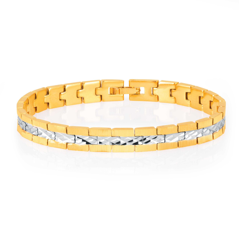 SUKKHI   Sukkhi Delightly Gold and Rhodium Plated Bracelet For Men