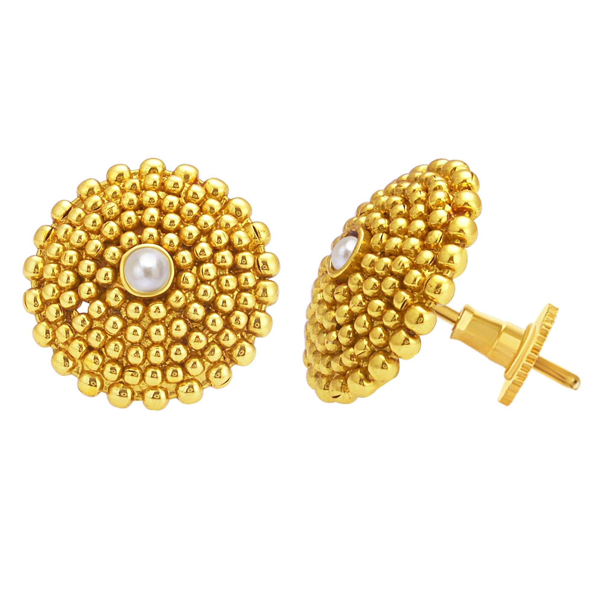 SUKKHI   Sukkhi Dazzling Gold Plated Pearl Stud Earring For Women