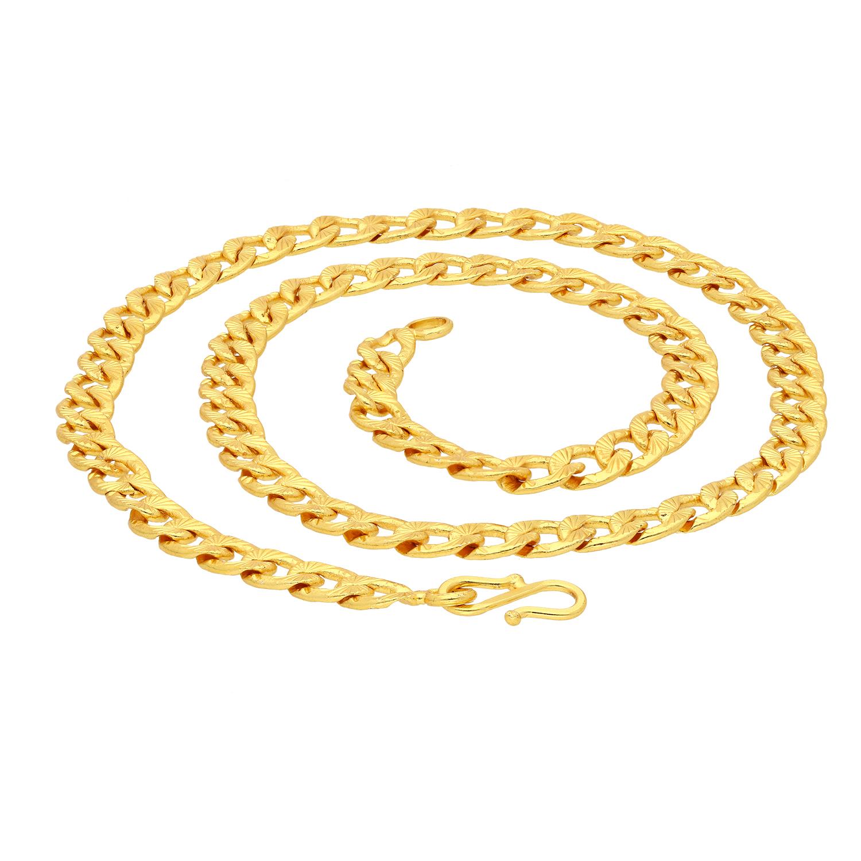 SUKKHI   Sukkhi Ravishing Gold Plated Unisex Curb chain