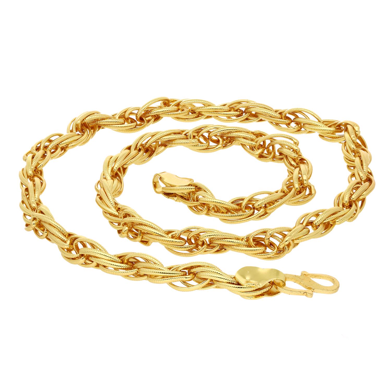 SUKKHI   Sukkhi Elegant Gold Plated Unisex Rope Chain