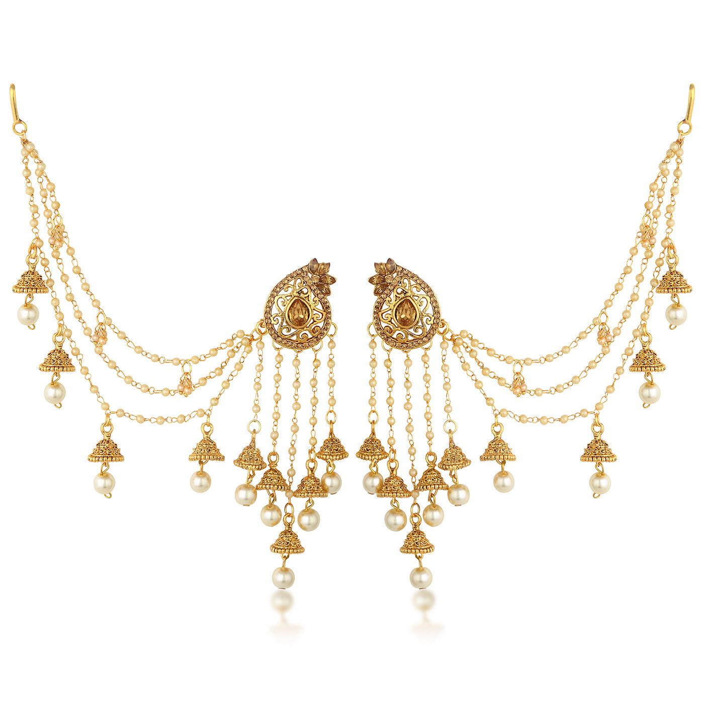 SUKKHI   Sukkhi Elegant Gold Plated Bahubali Inspired Long Chain Jhumki Earrings For Women