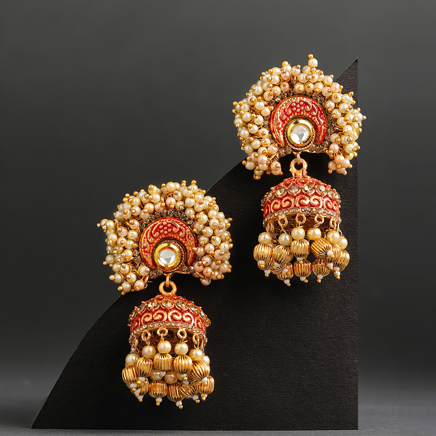 SUKKHI | Sukkhi Exclusive Mint Collection Gold Plated Jhumki Earring for Women