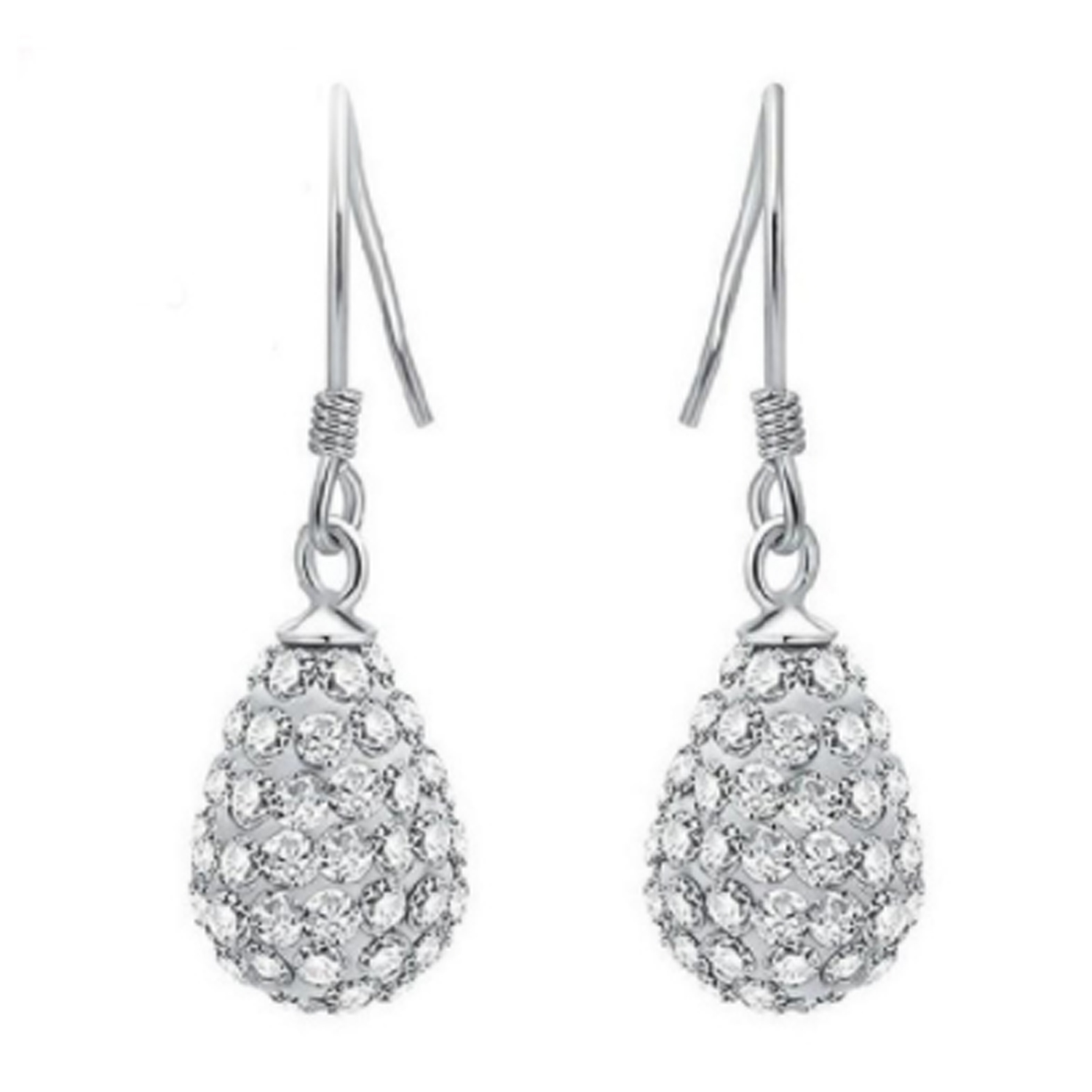 SUKKHI   Sukkhi Gleaming Crystals from Swarovski Drop Down Platinum Plated Dangle Earring Women and Girls