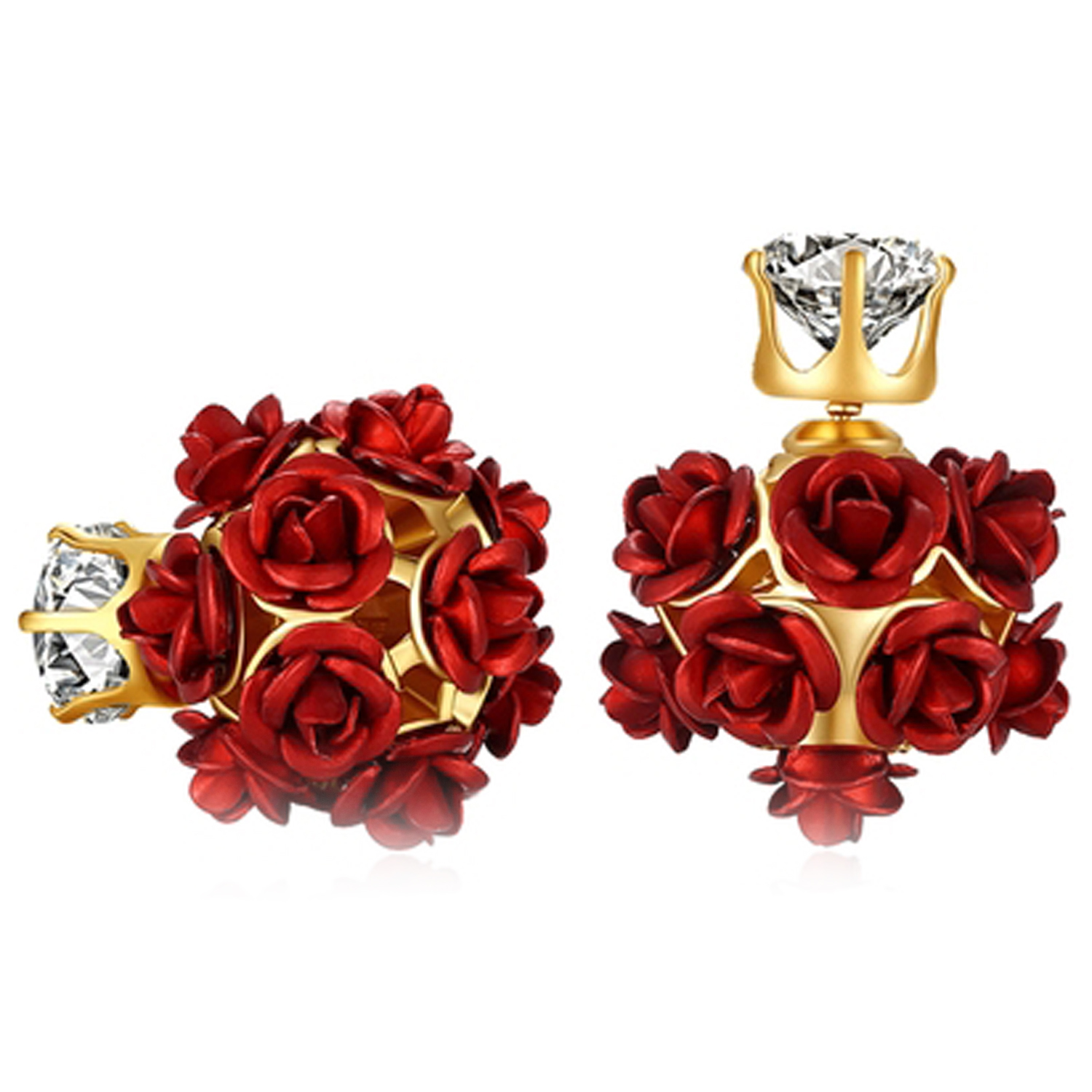 SUKKHI | Sukkhi Delightful Crystals from Swarovski Stud Gold Plated Earring for Women and Girls