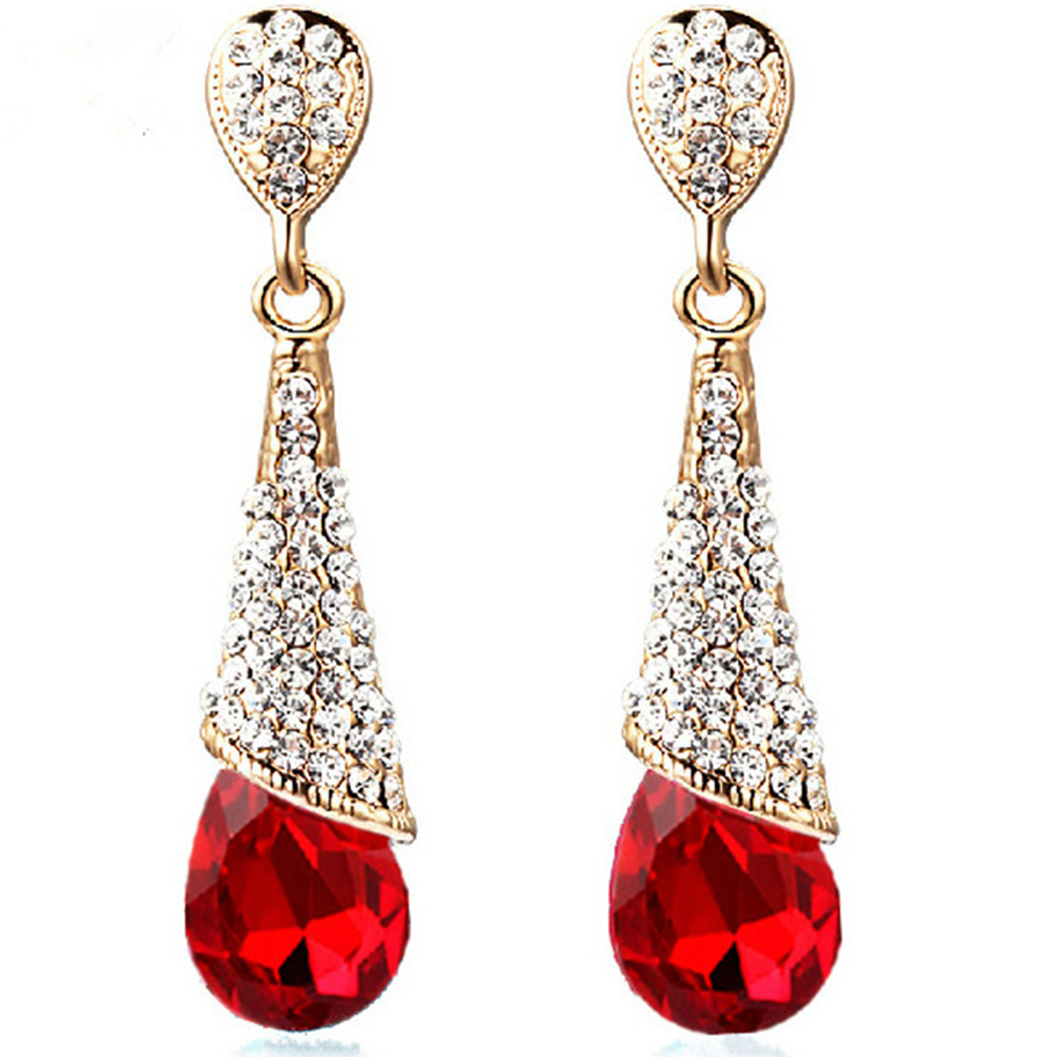 SUKKHI   Sukkhi Dazzling Crystals from Swarovski Gold Plated Drop Earring for Women