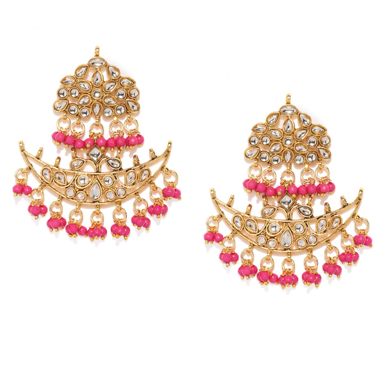 SUKKHI | Sukkhi Exotic Gold Plated Kundan Chandelier Earring for Women