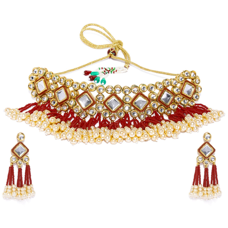 SUKKHI   Sukkhi Bewitching Kundan Gold Plated Neckalce Set for Women