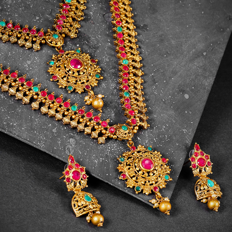 SUKKHI | Sukkhi Marvellous Gold Plated Neckalce Set for Women
