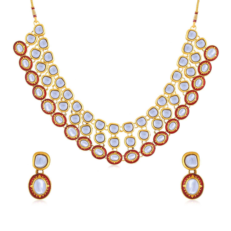 SUKKHI | Sukkhi Antique Gold Plated Necklace Set for Women