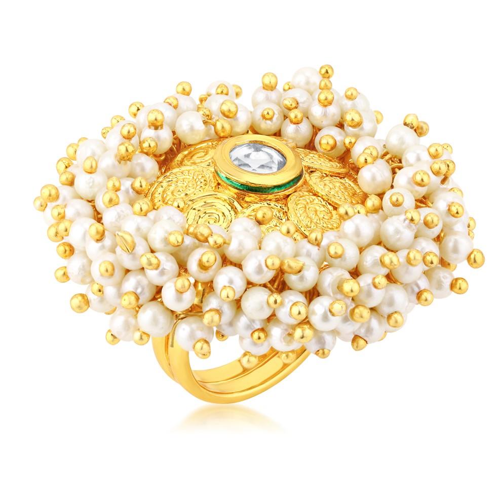 SUKKHI |  Sukkhi Ravishing Gold Plated Ring For Women