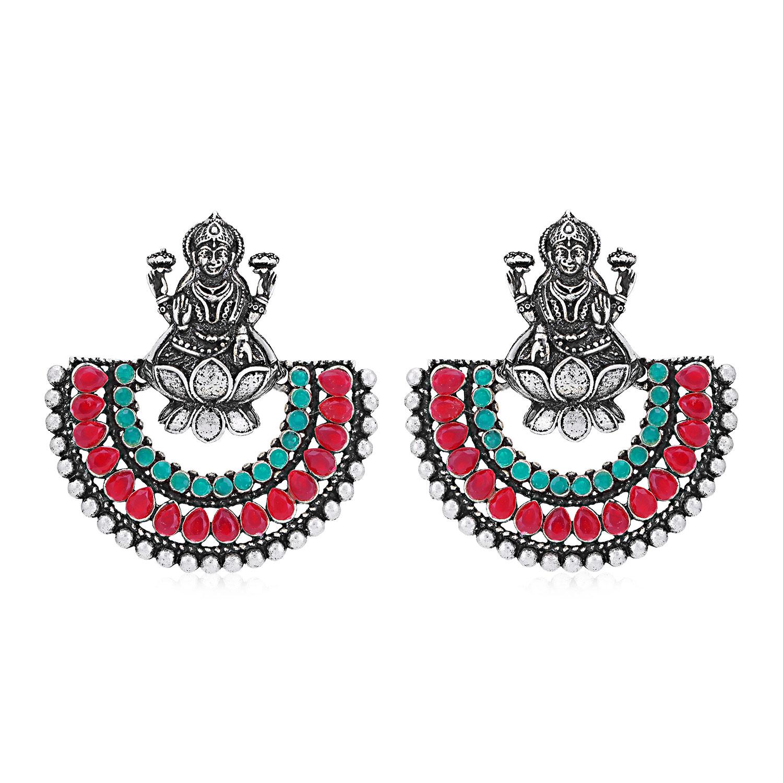 SUKKHI | Sukkhi Classic Oxidised Chandbali Laxmi Earring for Women