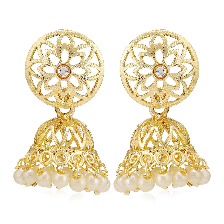 SUKKHI | Sukkhi Excellent Kundan Gold Plated Pearl Jhumki Earring for Women