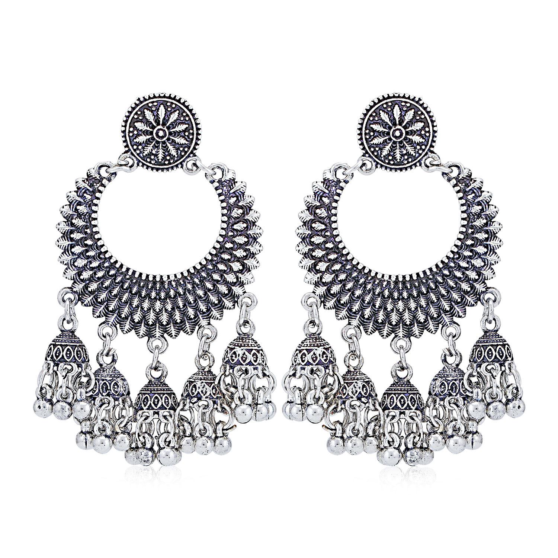 SUKKHI | Sukkhi Trendy Oxidised Chandelier Earring for Women