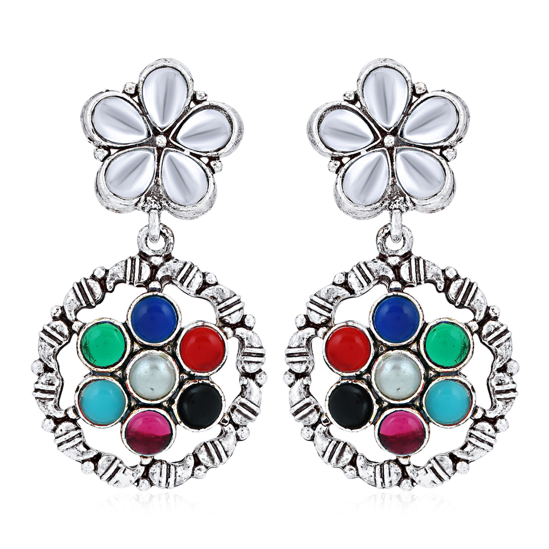 SUKKHI | Sukkhi Elegant Oxidised Floral Earring for Women