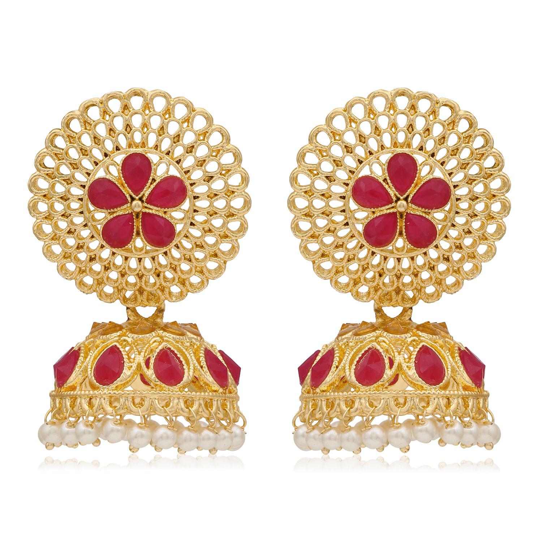 SUKKHI | Sukkhi Glamorous Gold Plated Pearl Jhumki Earring for Women