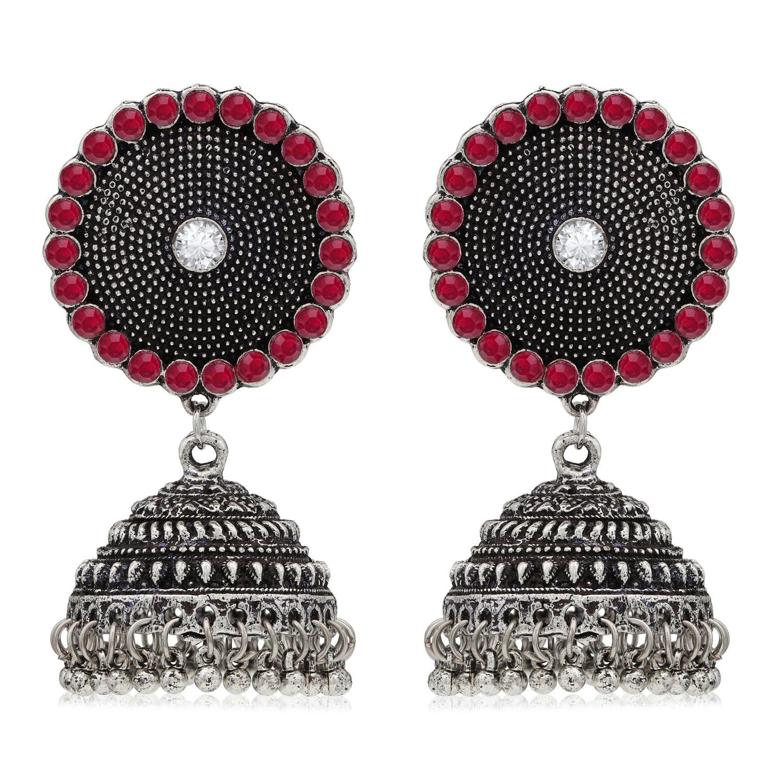 SUKKHI | Sukkhi Ritzy Oxidised Pearl Jhumki Earring for Women