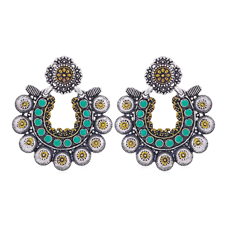 SUKKHI | Sukkhi Splendid Oxidised Chandbali Earring for Women