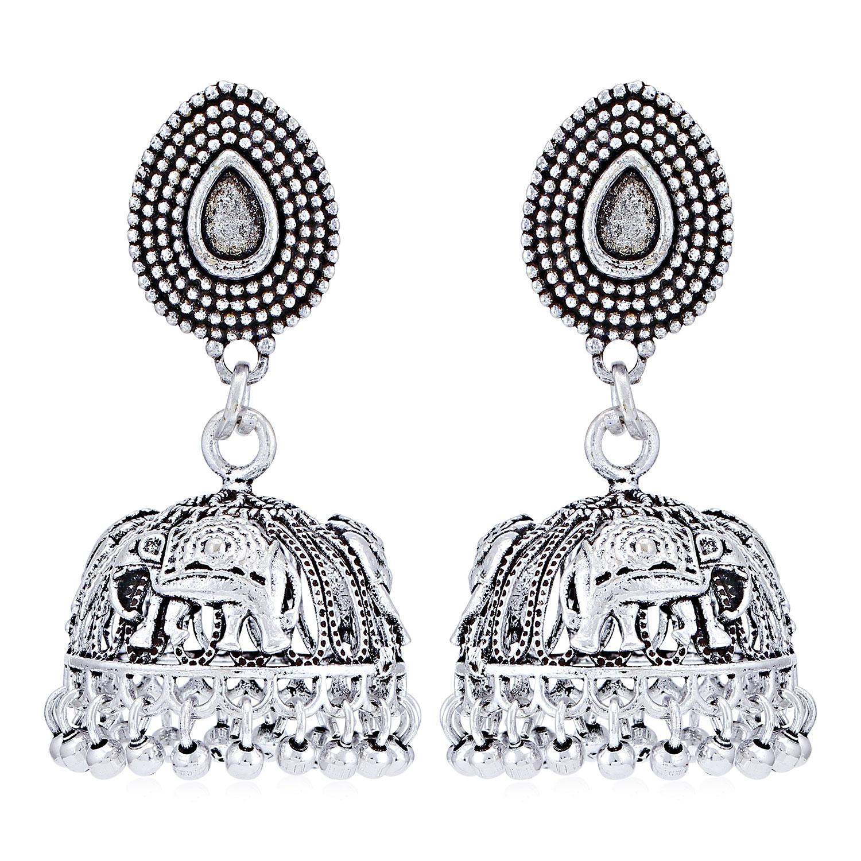SUKKHI   Sukkhi Trendy Oxidised Jhumki Earring for Women
