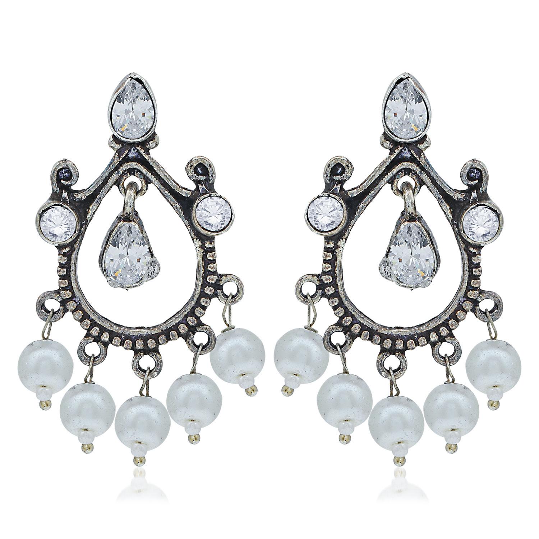 SUKKHI | Sukkhi Ravishing Oxidised Pearl Dangle Earring For Women
