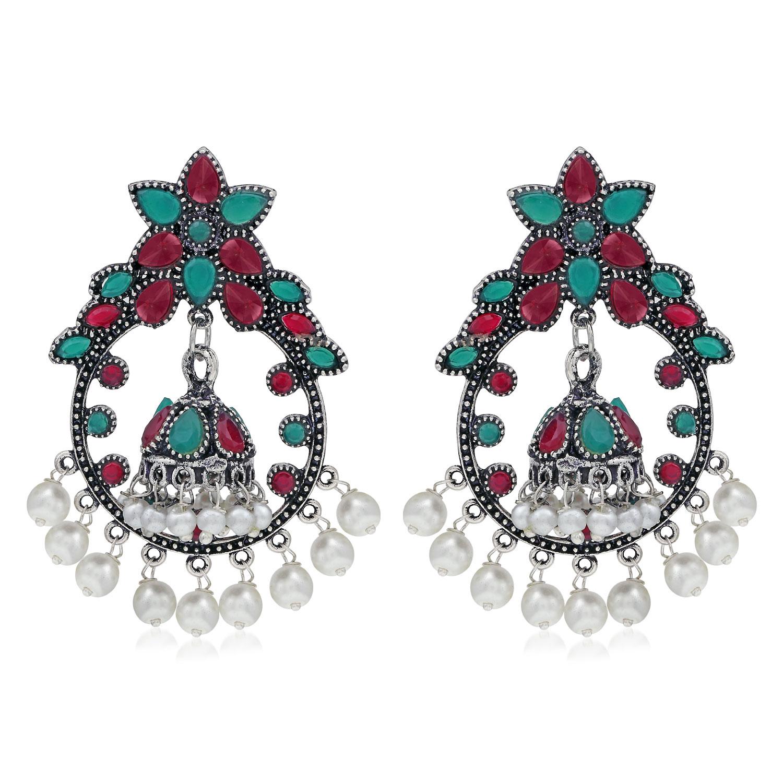 SUKKHI | Sukkhi Fancy Oxidised Pearl Dangle Earring For Women