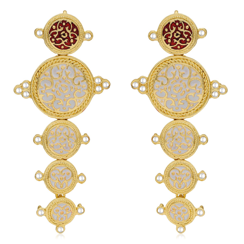 SUKKHI | Sukkhi Classy Gold Plated Kundan Meenakari Dangle Earring For Women