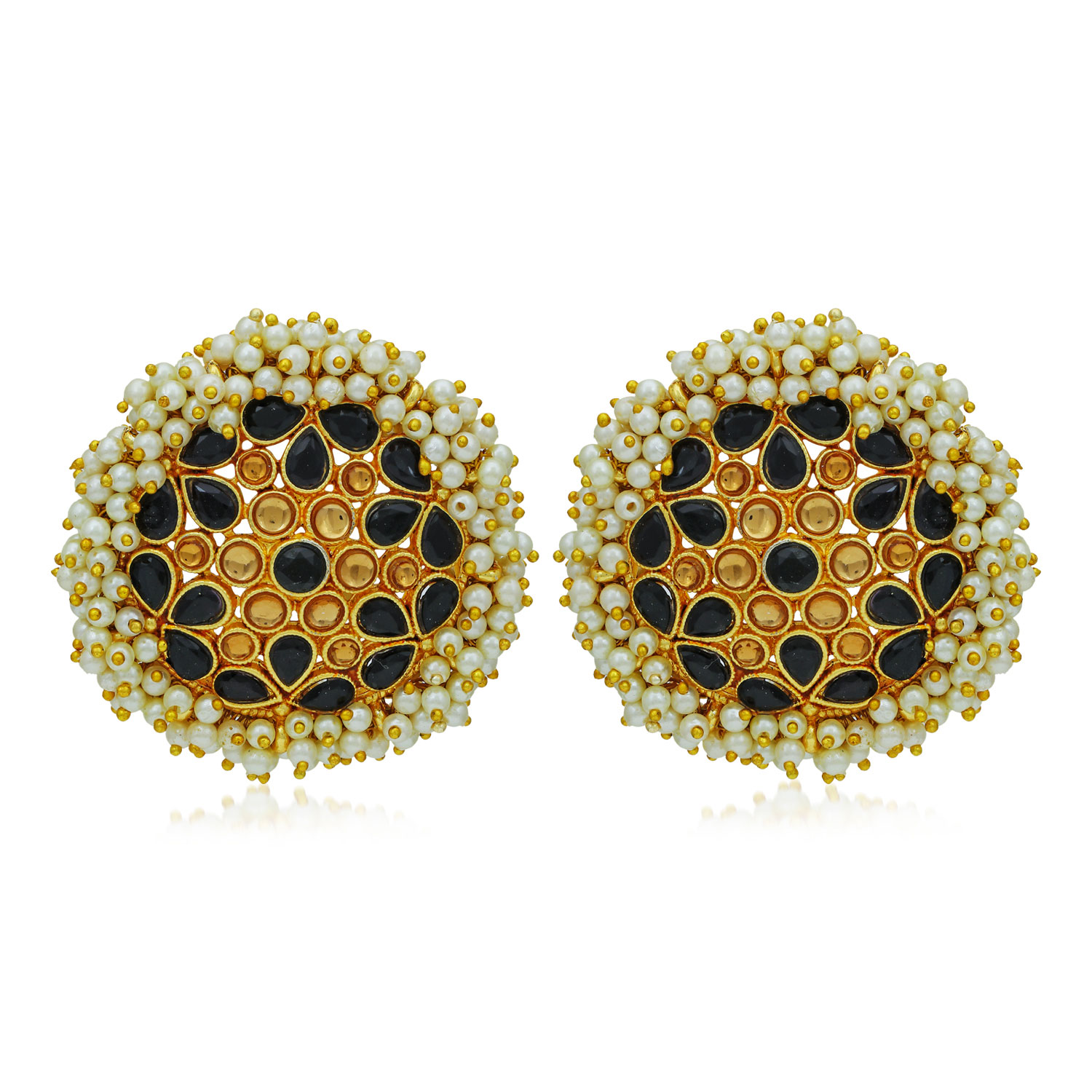 SUKKHI   Sukkhi Classy LCT Gold Plated Pearl Stud Earring For Women