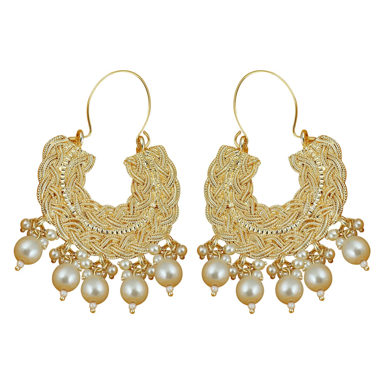 SUKKHI | Sukkhi Classic Gold Plated Pearl Chandbali Earring for Women
