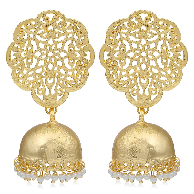 SUKKHI | Sukkhi Equisite Gold Plated Pearl Jhumki Earring For Women