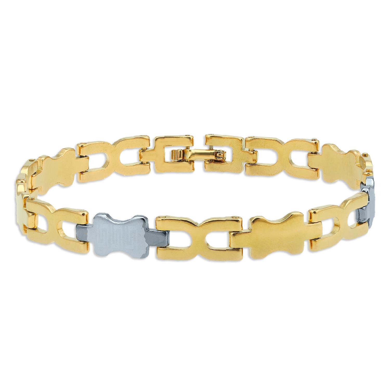 SUKKHI   Sukkhi Amazing Gold & Rhodium Plated Bracelet for Men