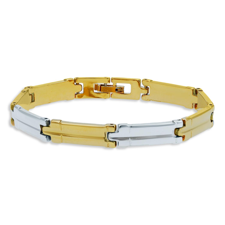 SUKKHI   Sukkhi Classy Gold & Rhodium Plated Bracelet for Men